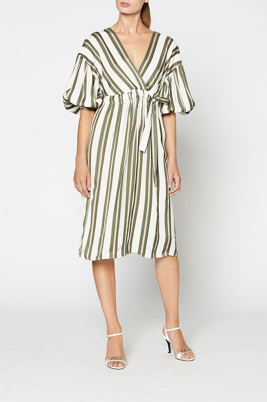 STRIPE VISCOSE DRESS