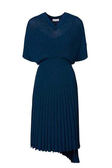 PLEATED RIB WRAP DRESS 16