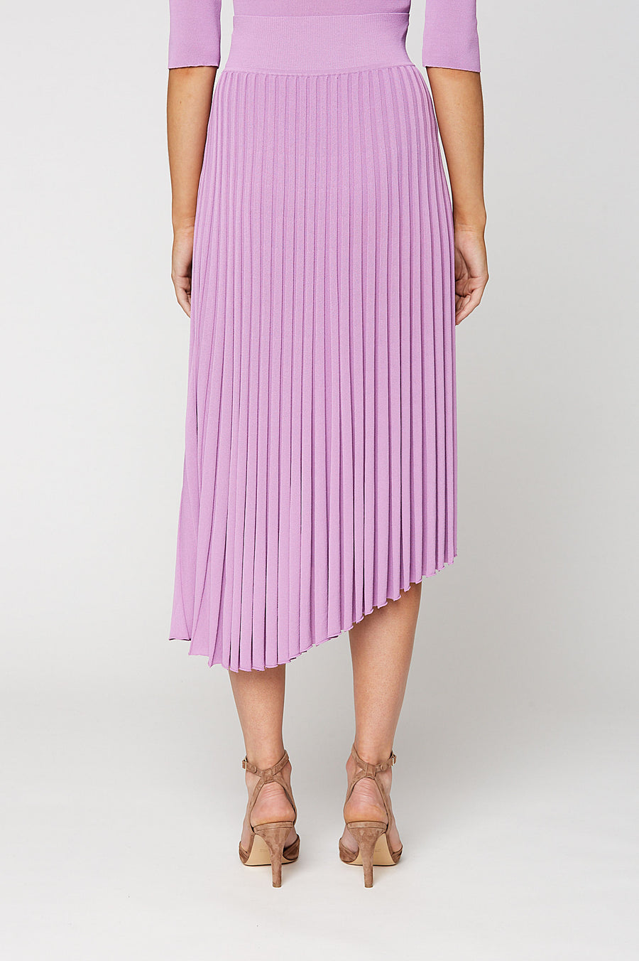 PLEATED RIB WRAP SKIRT 16, MAUVE color