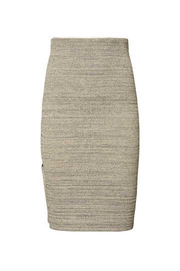 CREPE KNIT TWEED VENT SKIRT, CONNECTICUT color