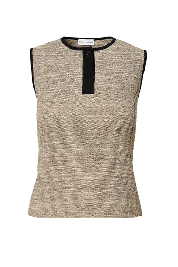 CREPE KNIT TWEED TANK