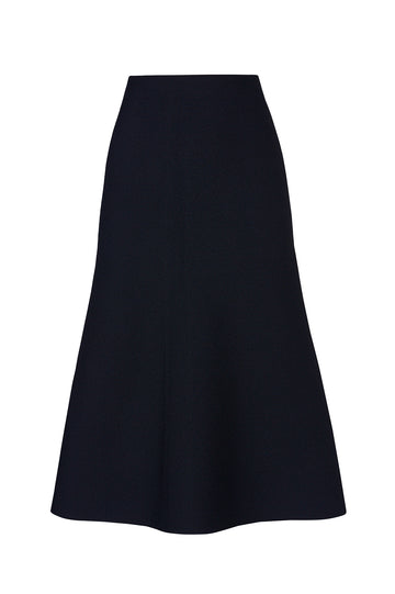 CREPE KNIT A-LINE SKIRT
