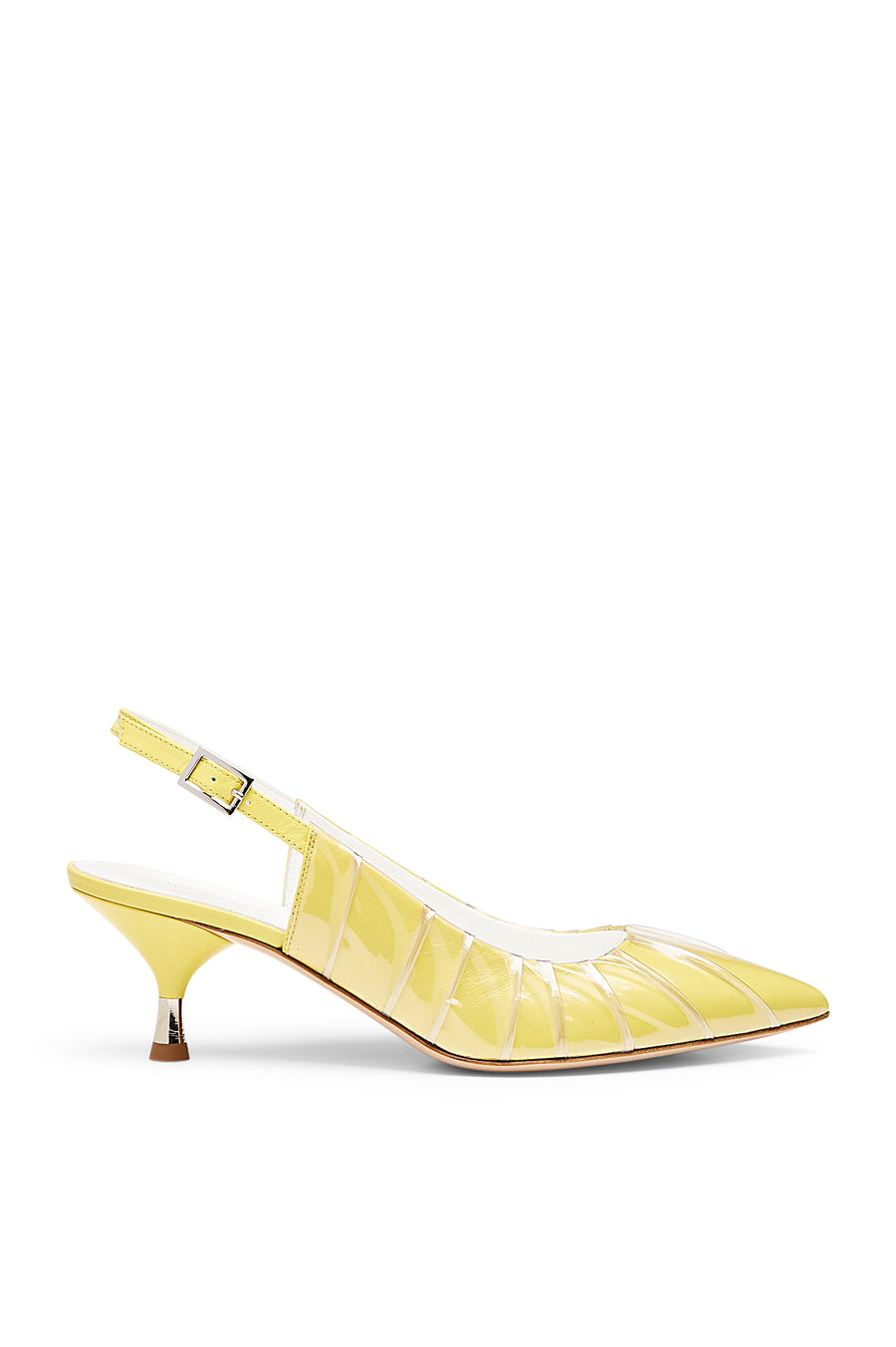 TUCKED SLINGBACK 5.5 CITRON, CITRON color
