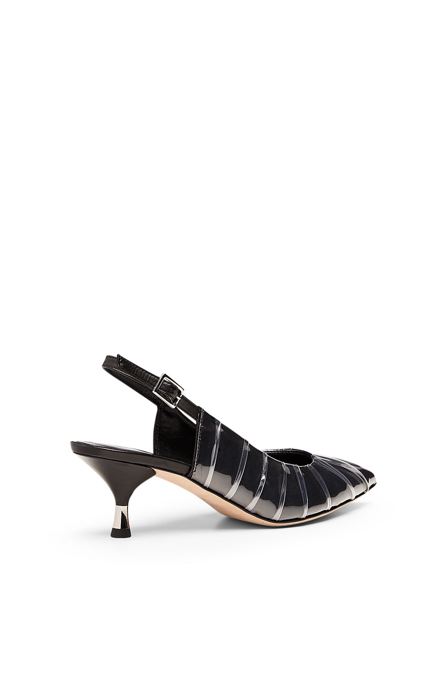 TUCKED SLINGBACK 5.5 NERO, NERO color