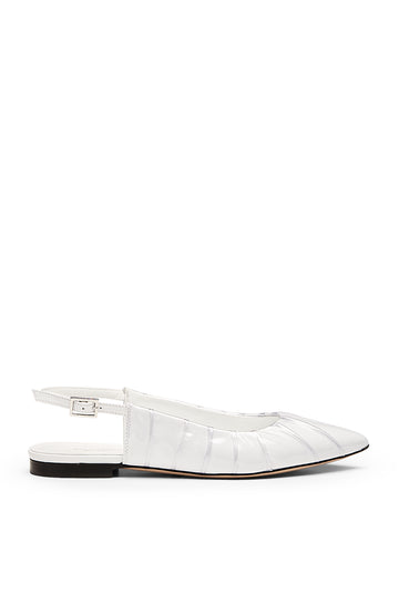 TUCKED SLINGBACK BIANCO, BIANCO color