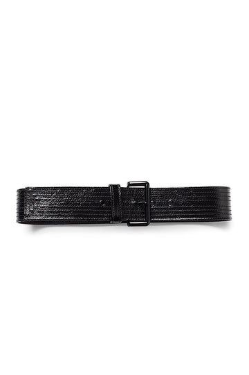 PATENT LEATHER BELT 5 NERO, NERO color