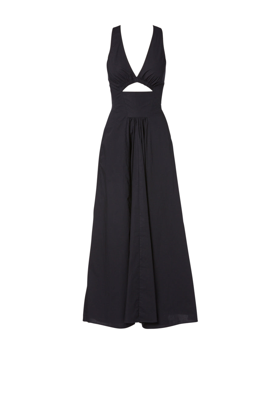 Cotton cross back Dress Navy, Maxi Length, Slim Fit