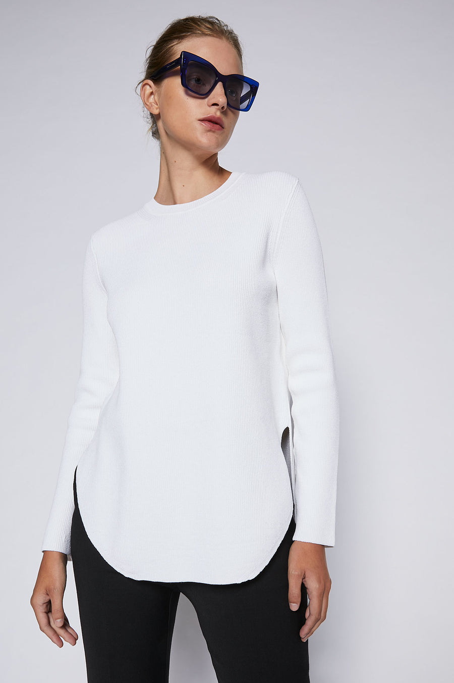 A quintessential basic for any season, this rib-knit top will be a go-to for years to come