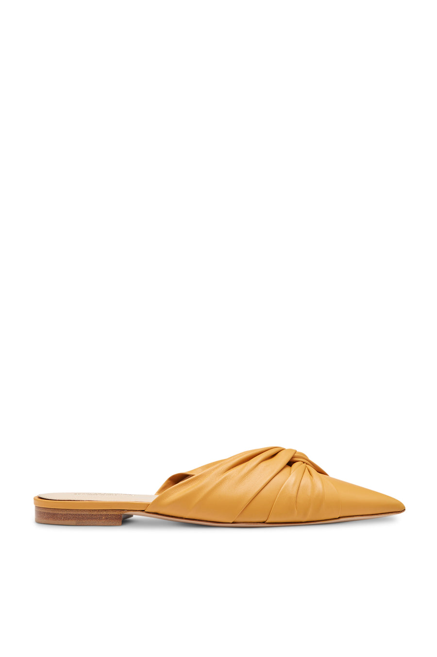 TURBAN TWIST SLIPPER AMBER