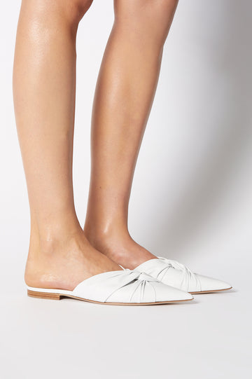 TURBAN TWIST SLIPPER BIANCO