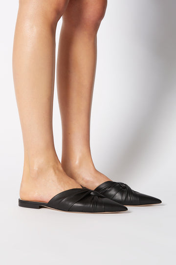 TURBAN TWIST SLIPPER NERO