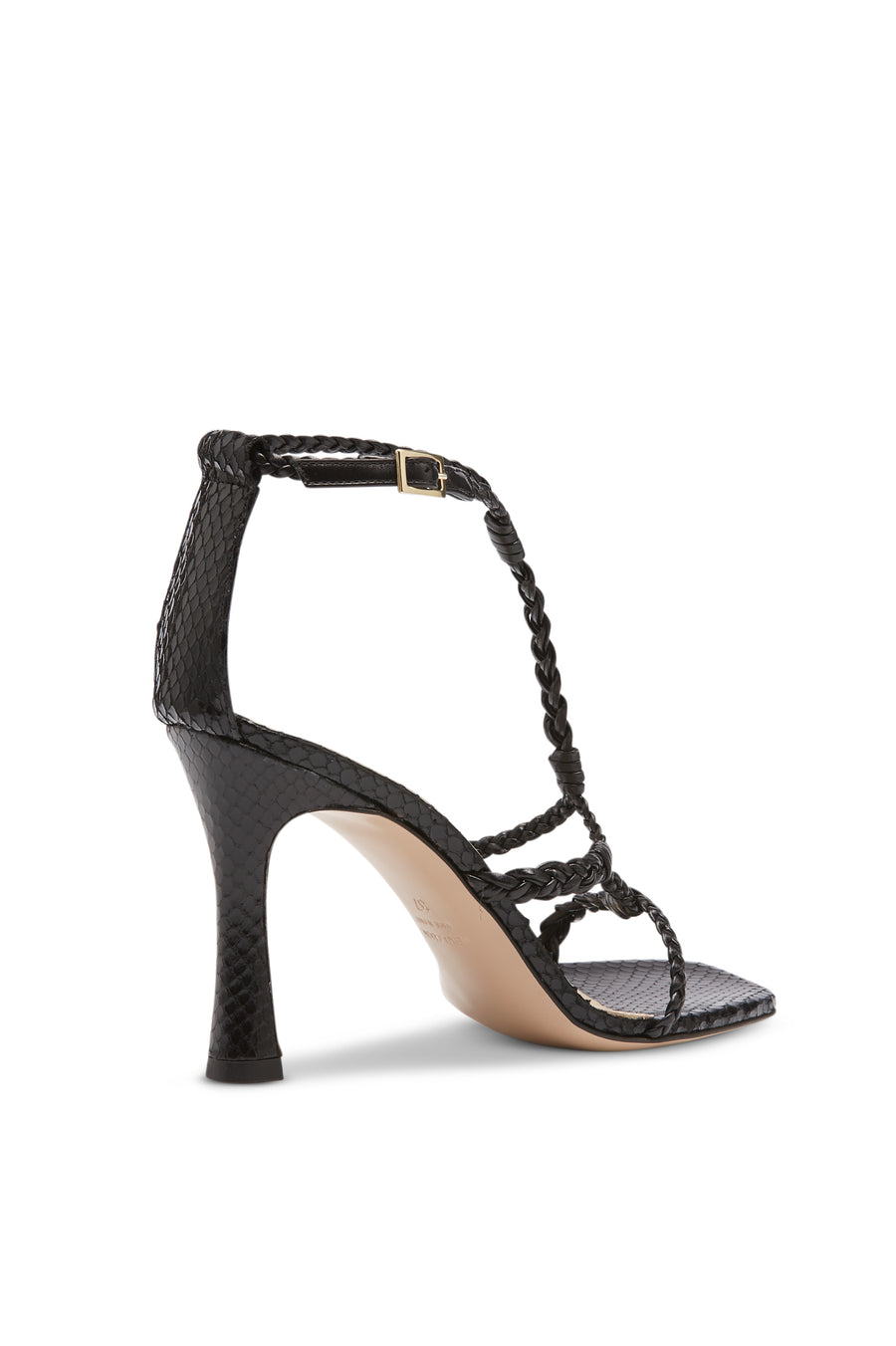 PLAITED SANDAL 9.5 NERO