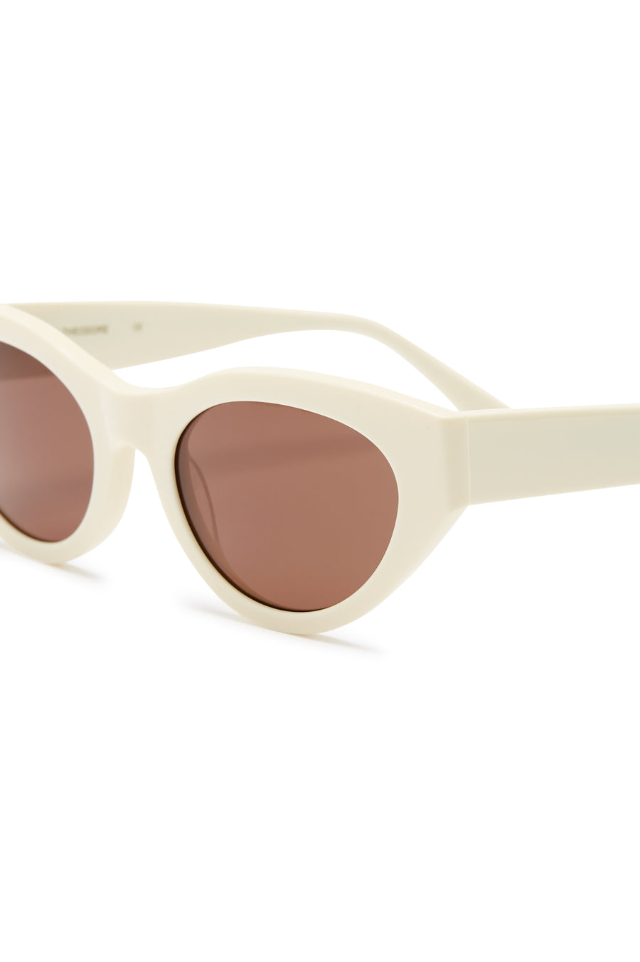S T CAT EYE SUNGLASSES CREAM