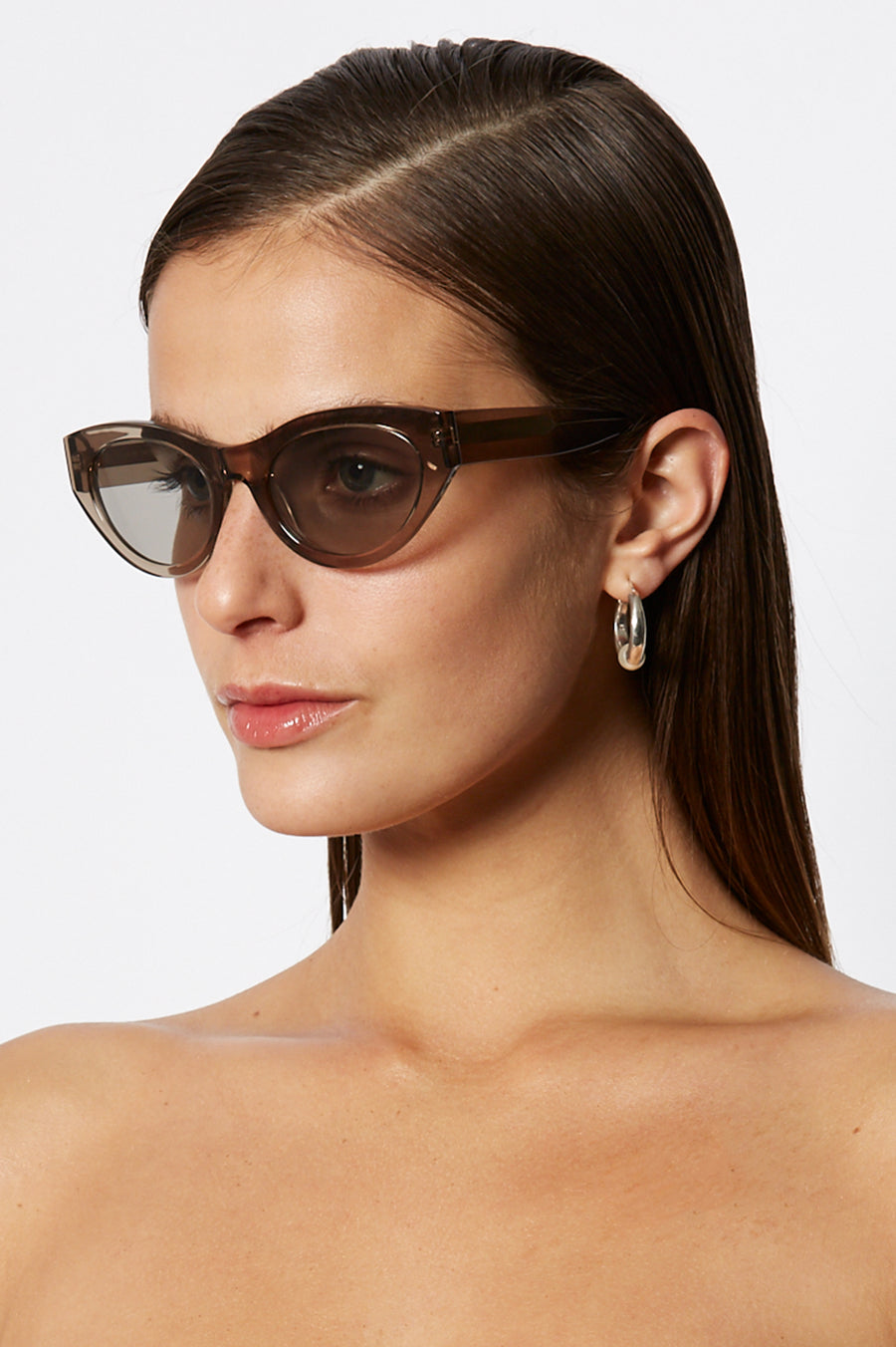 S T CAT EYE SUNGLASSES GREY