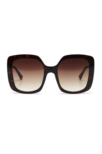 S T SQUARE SUNGLASSES TORTOISE SHELL