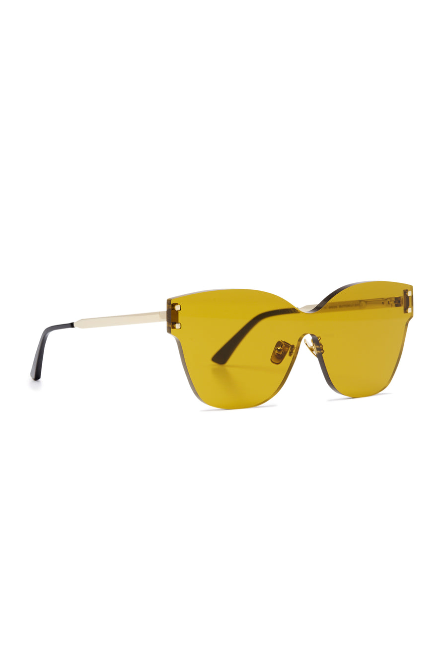 S T BUTTERFLY SHIELD SUNGLASSES BREEN