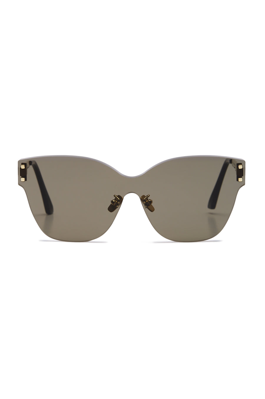 Butterfly Shield Glasses, Color Grey, Japanese Acetate, Upturned Edges, Anti Slip Nose Pads