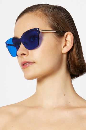 BUTTERFLY SHIELD SUNGLASSES INDIGO