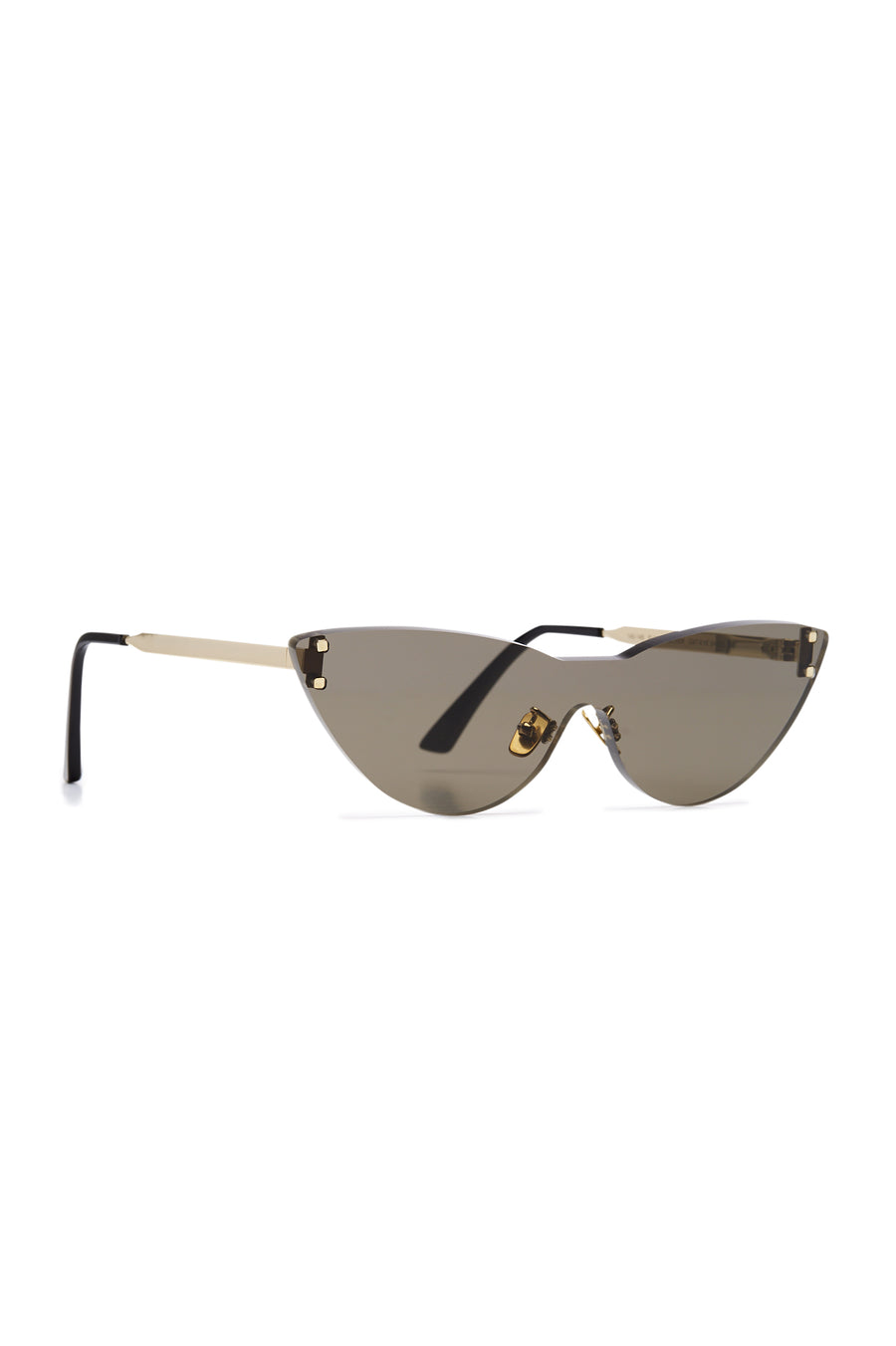 S T Cat Eye Shield Sunglasses Grey, made with Japanese acetate