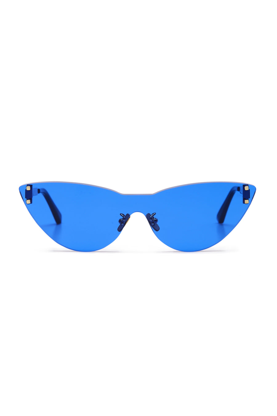 S T CAT EYE SHIELD SUNGLASSES INDIGO