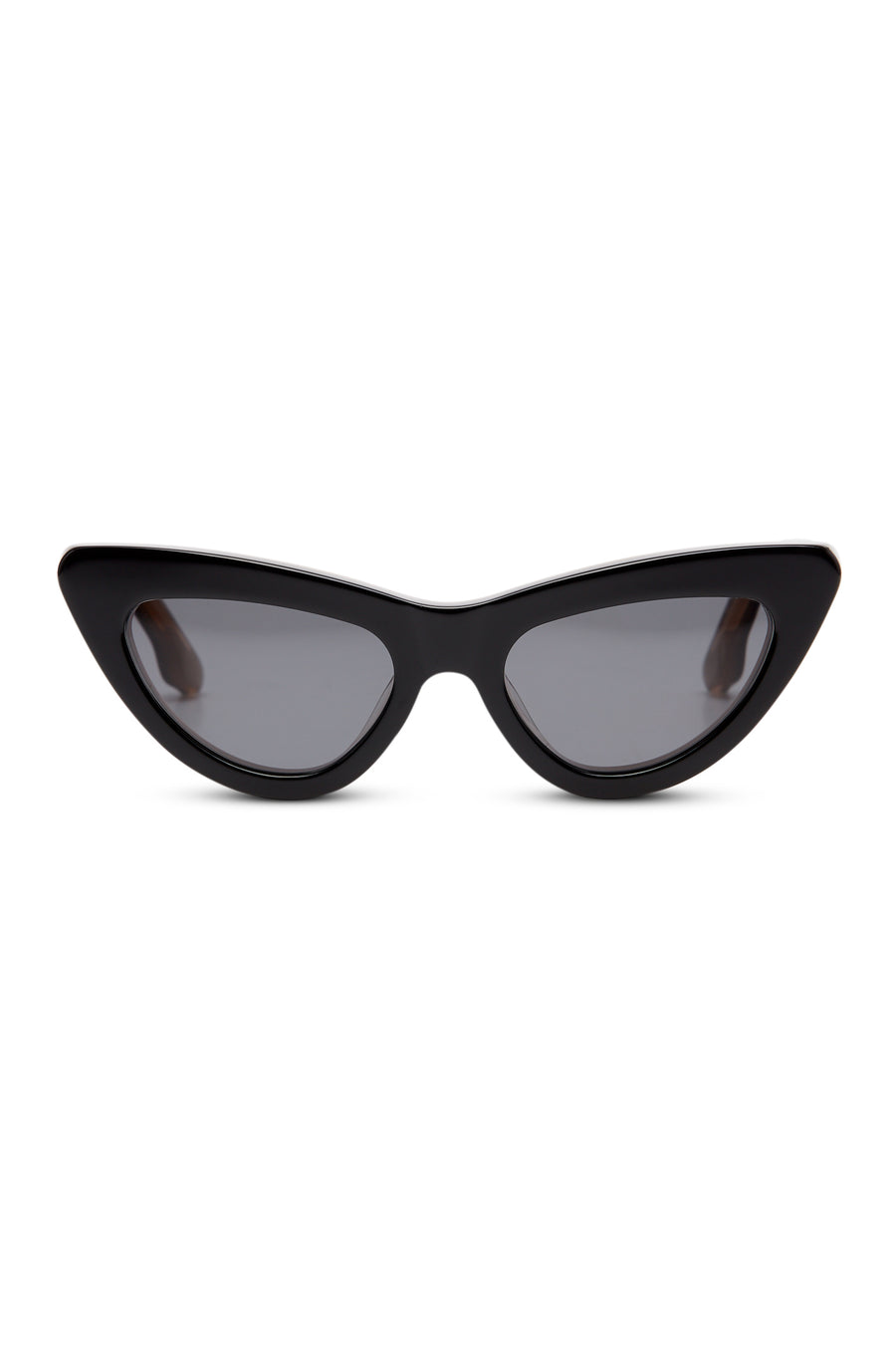 The ST Feline Cat Sunglasses feature a graceful cat eye design and smoky lenses.