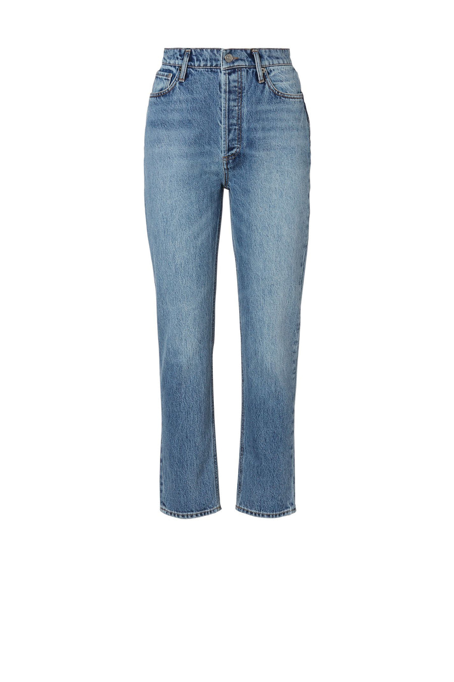 HIGH RISE STRAIGHT CROP JEAN WASHED INDIGO