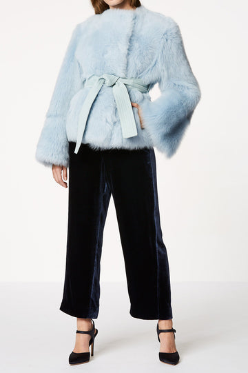 Toscana Belted Jacket Powder Blue