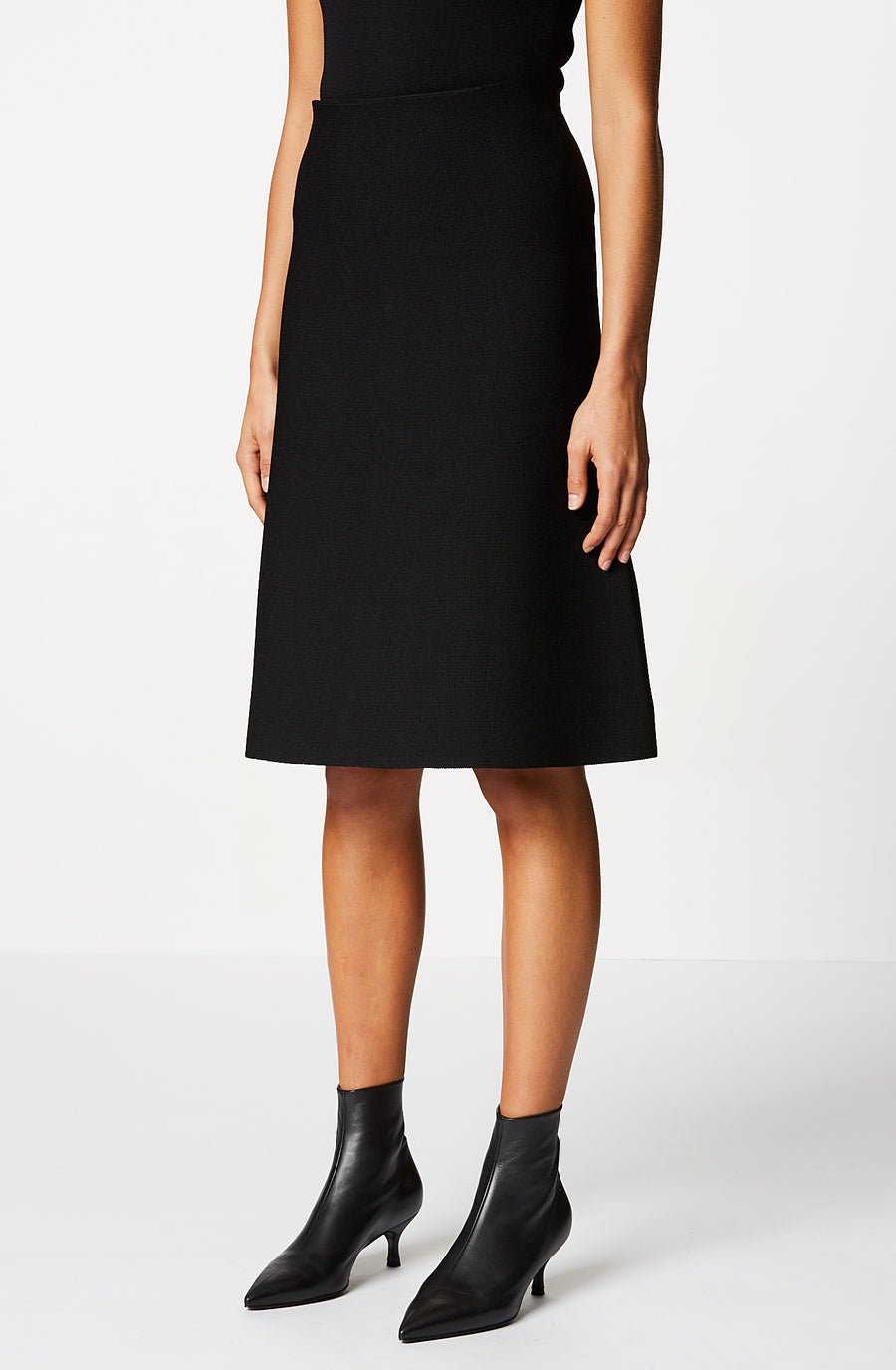 CREPE KNIT ALINE SKIRT