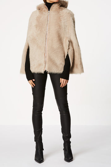 Toscana Hooded Cape Camel