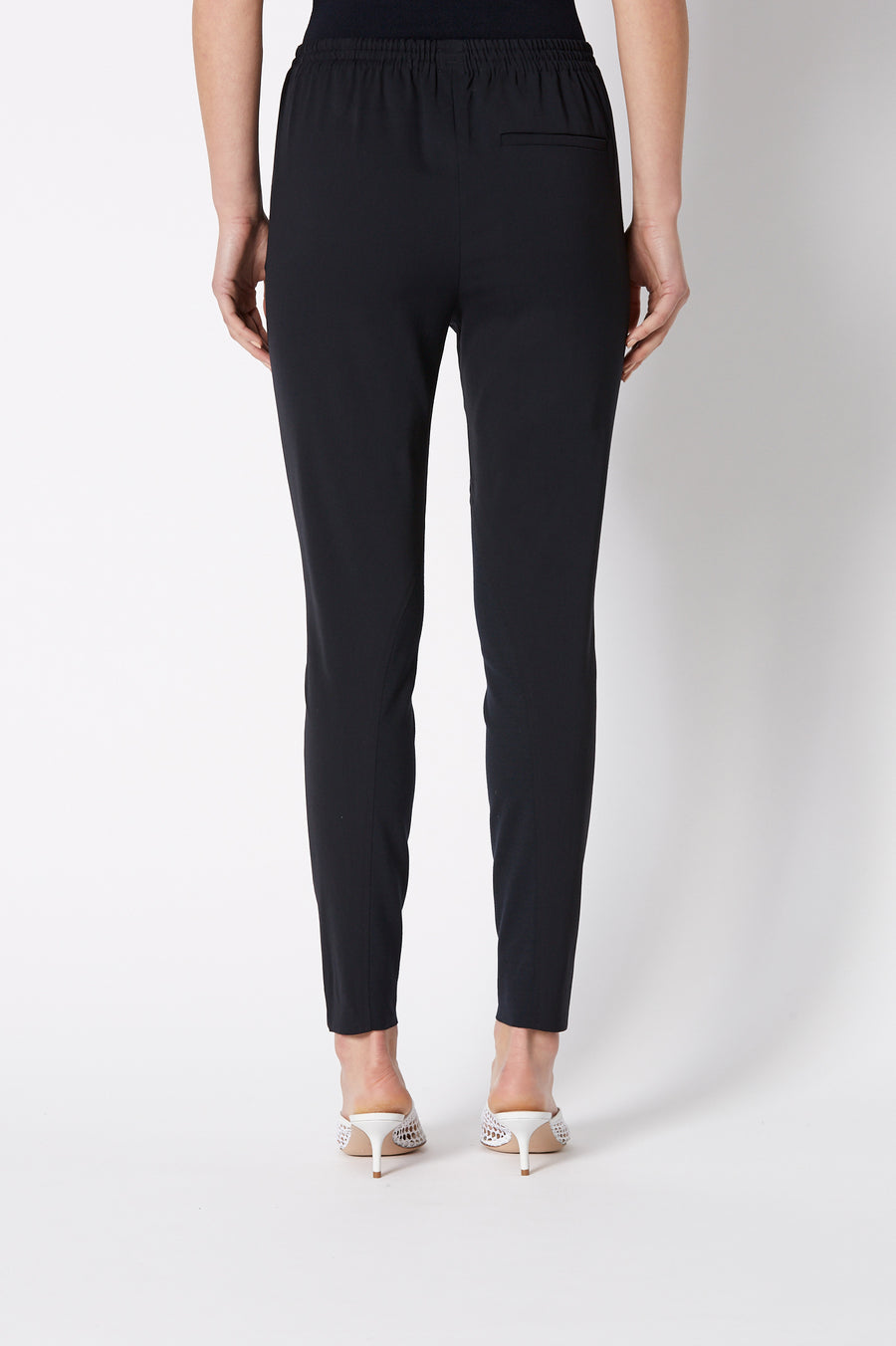 CREPE TRIM TROUSER NAVY