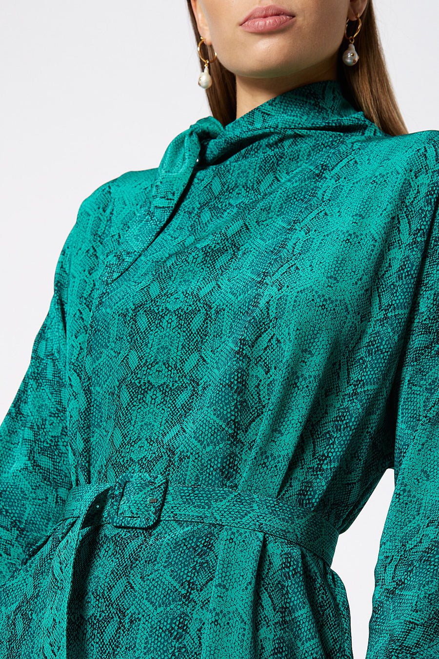 CDC CRAVAT DRESS EMERALD