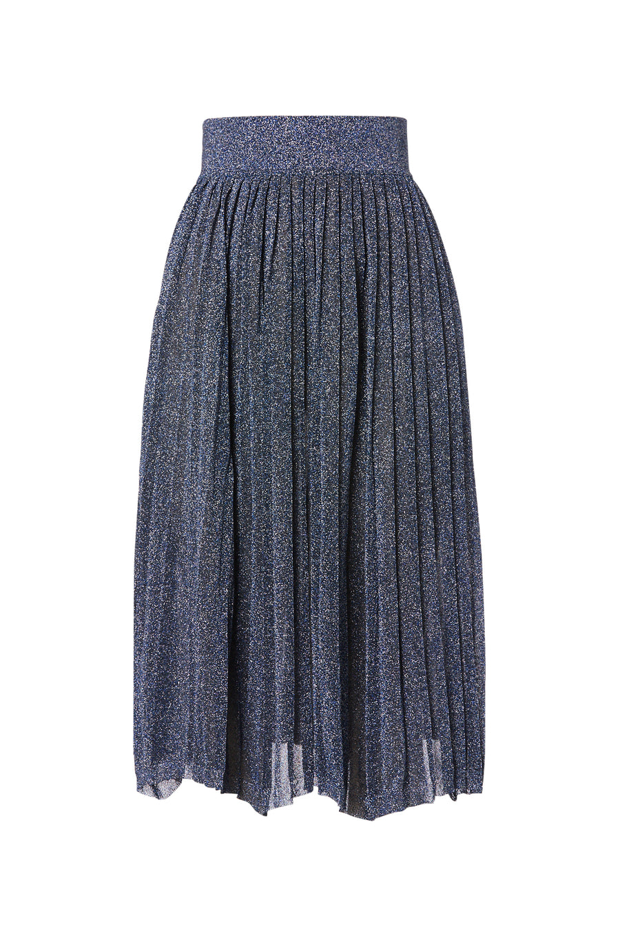TINSEL PLEAT SKIRT 16, MIDNIGHT color