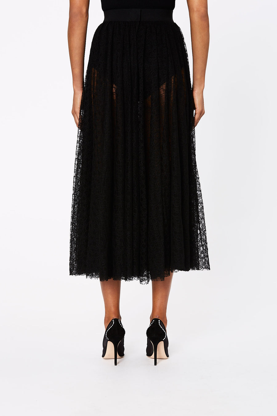 LILY LACE SKIRT BLACK