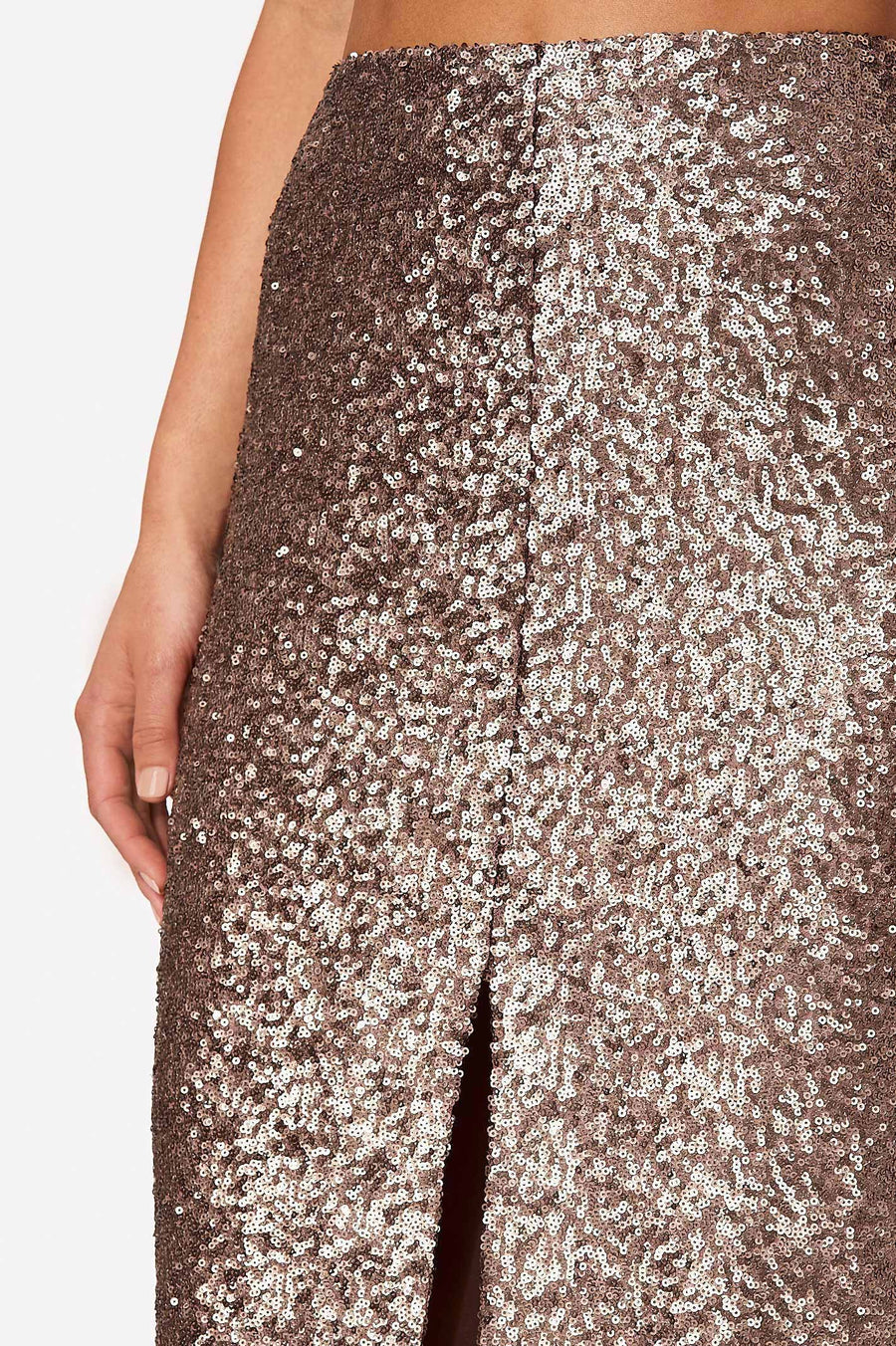 Sequin Skirt Pearl