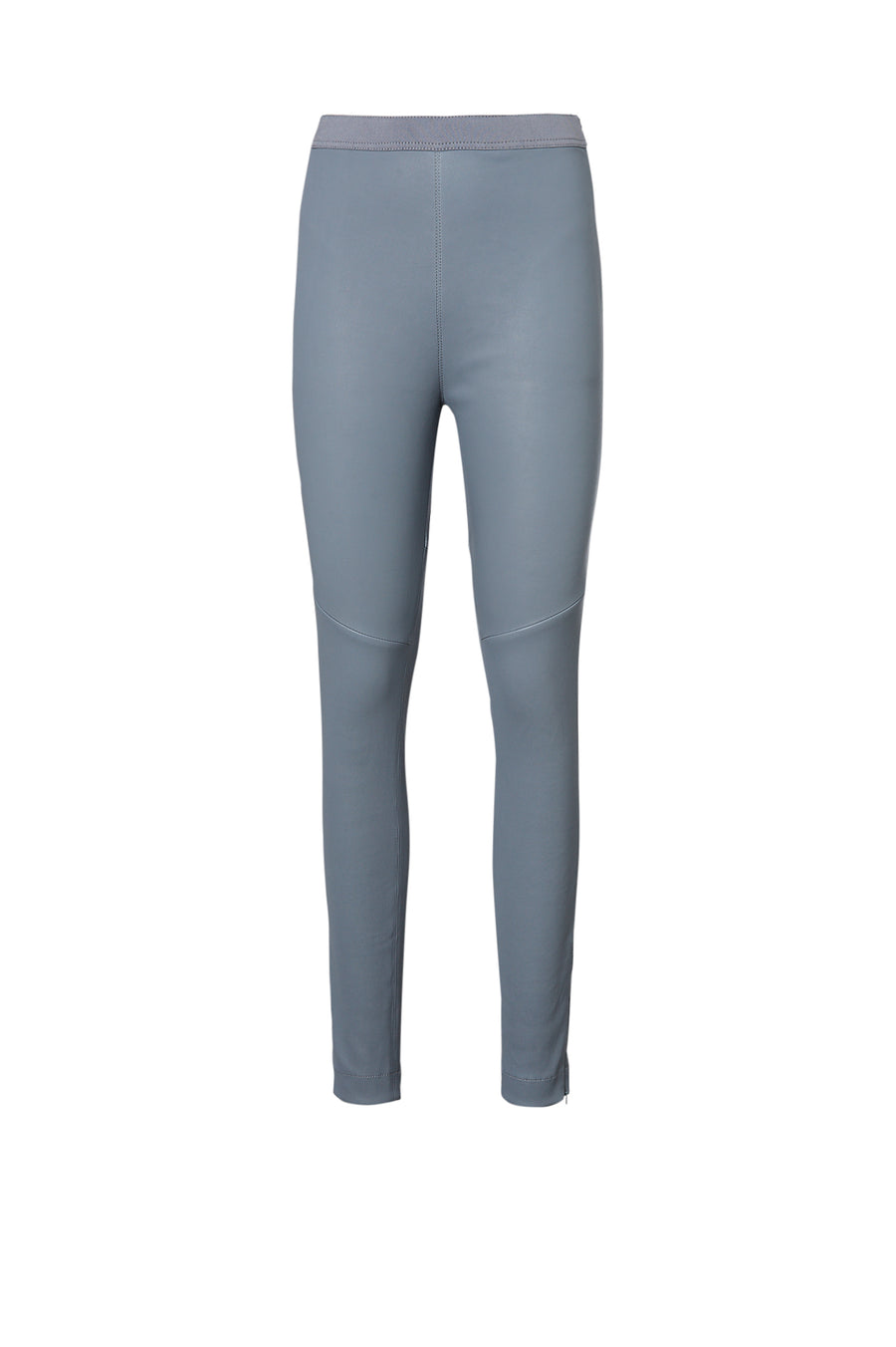 STRETCH LEATHER LEGGING LIGHT INDIGO