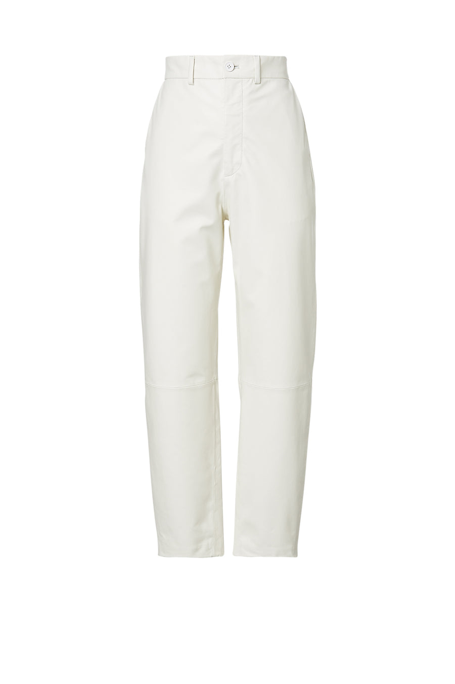 Leather High Waist Trouser White - Scanlan Theodore
