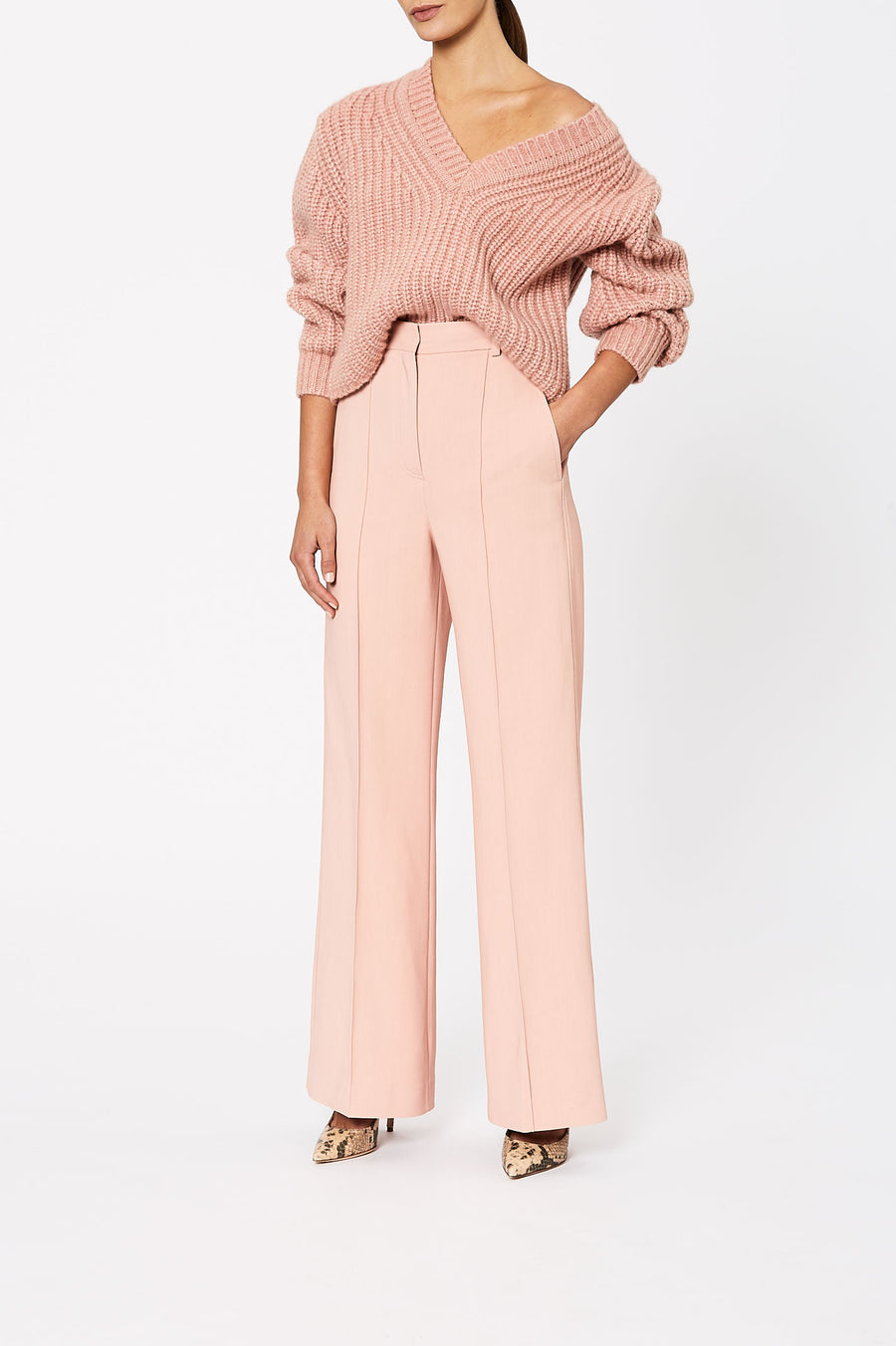 Pin Tuck Trouser Rosa - Scanlan Theodore