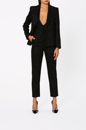 Lurex Stripe Trouser Black - Scanlan Theodore