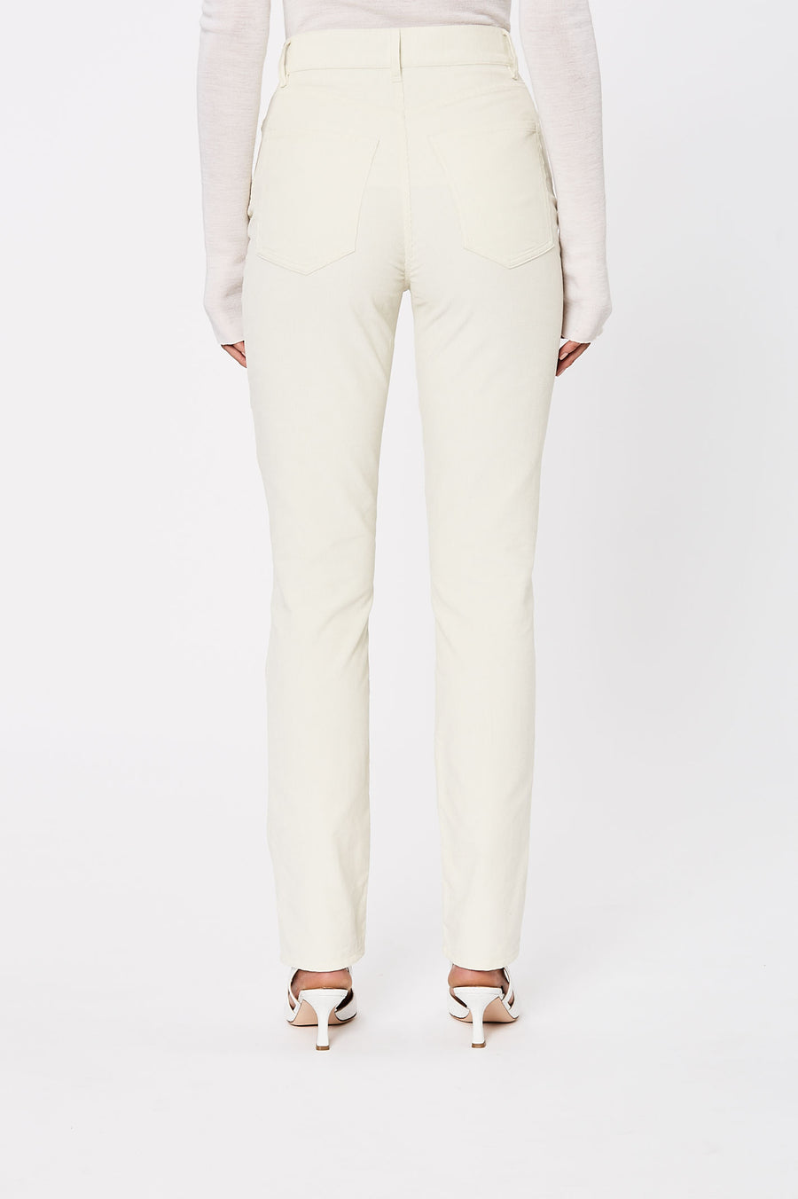 Straight Crop Cord Jean Cream - Scanlan Theodore