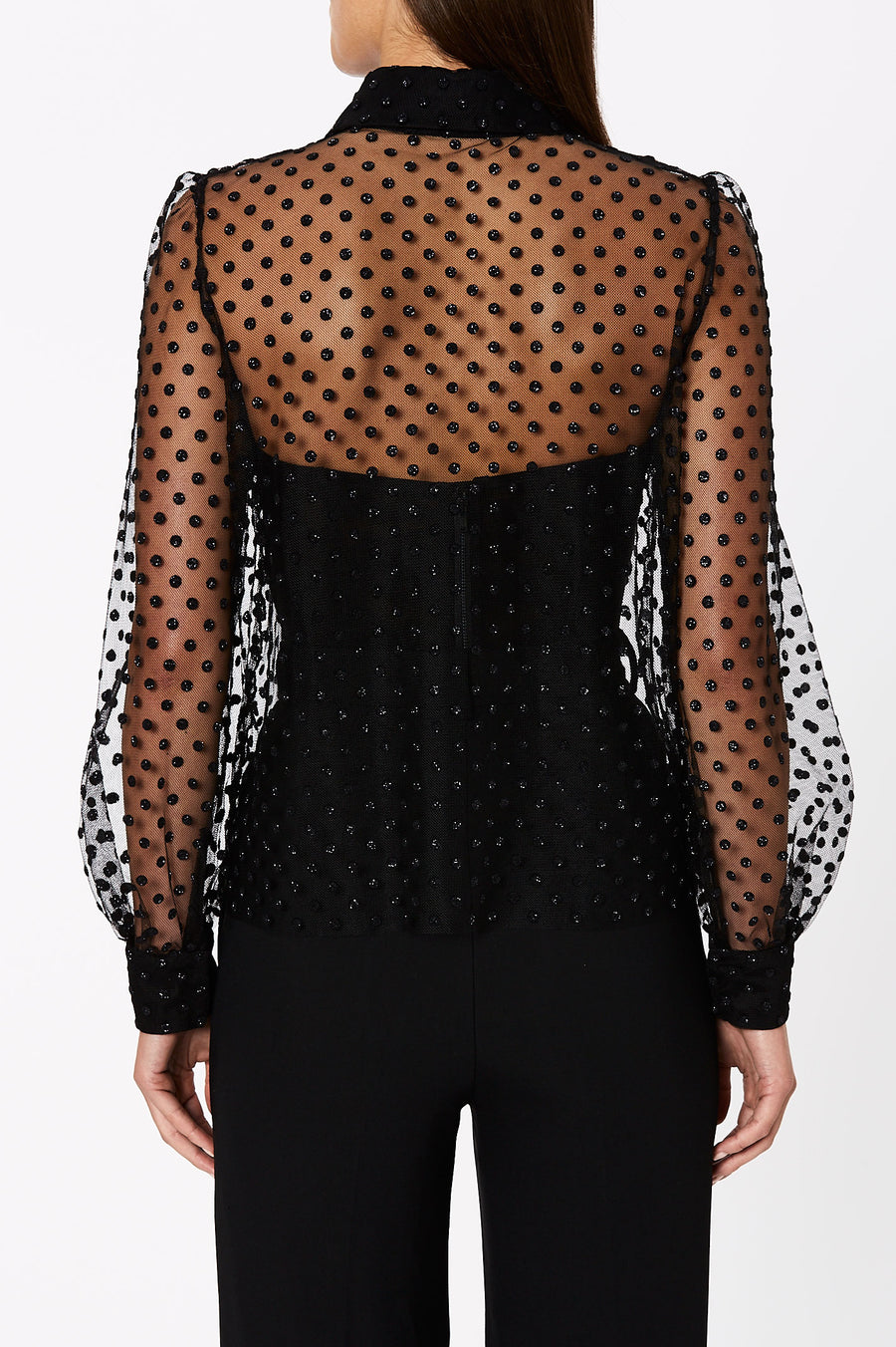 Tulle Blouse Black - Scanlan Theodore