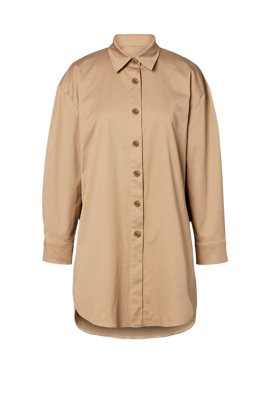 Cotton Sateen Shirt Camel - Scanlan Theodore
