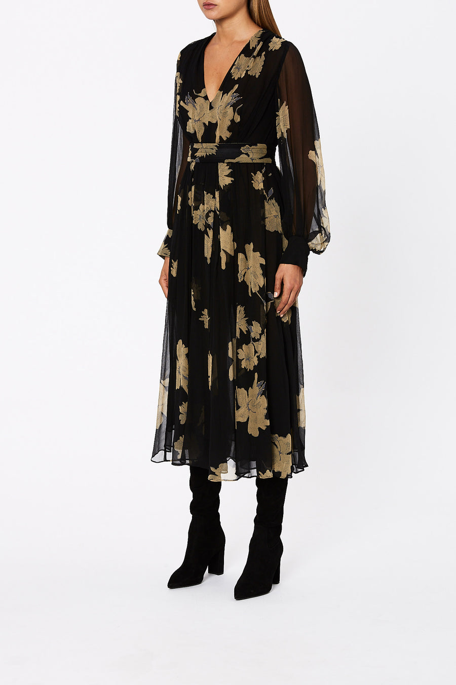 Silk GGT Floral Dress Black - Scanlan Theodore