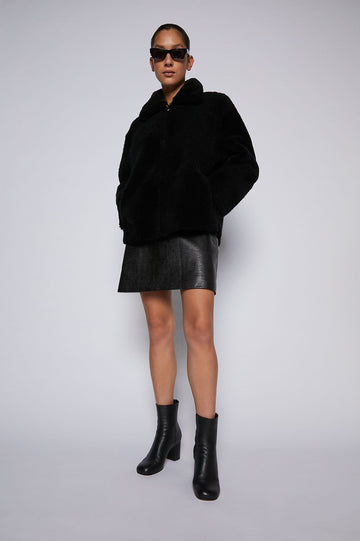 MERINO SHEARLING JACKET BLACK