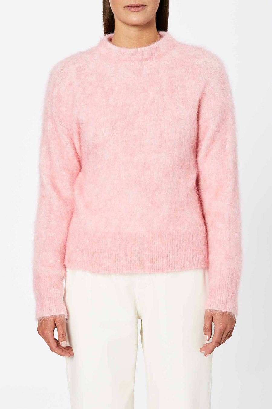 Constructed from a luxuriously soft mohair blend, elevate your winter looks with the Brushed Mohair Sweater