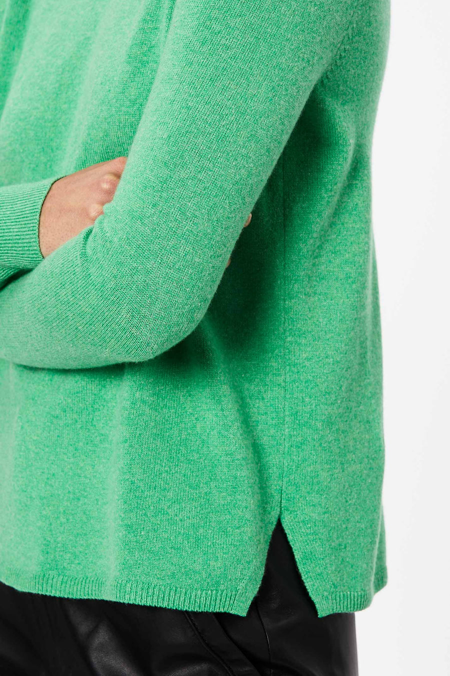 Cashmere Crew Neck Sweater 12 Verde
