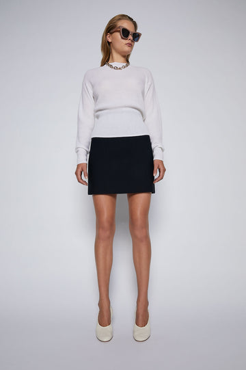 Crepe Knit Mini Skirt Navy - Scanlan Theodore