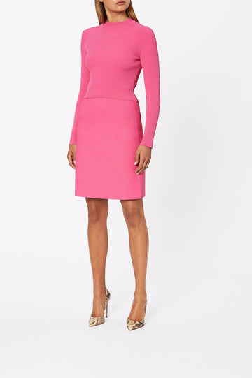 Crepe Knit Tailored Skirt Fuchsia - Scanlan Theodore