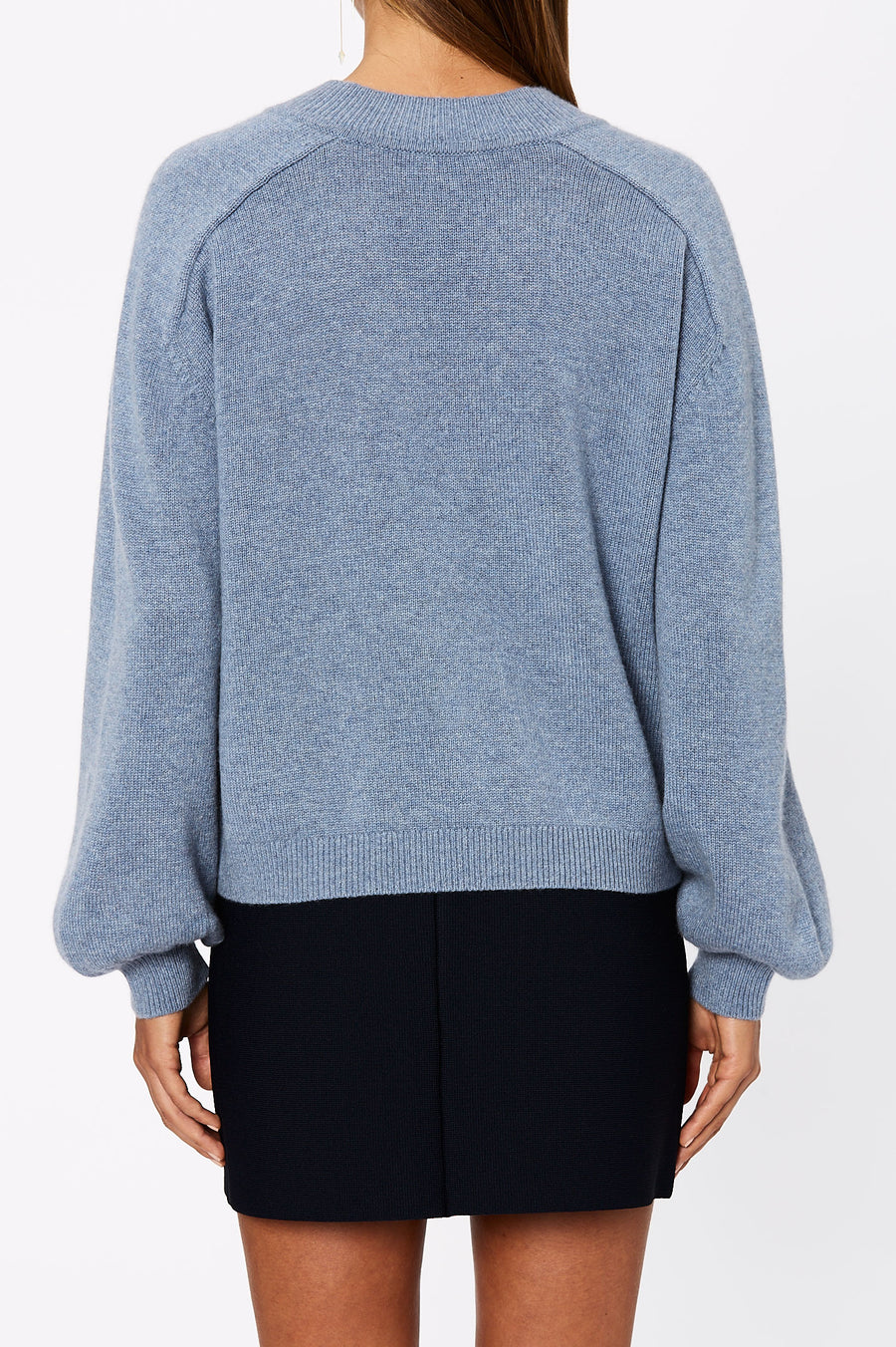 The Cashmere V Neck Sweater has been crafted from a luxuriously soft cashmere