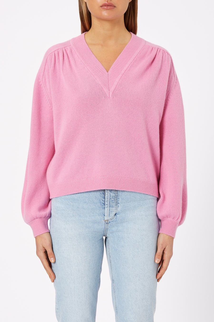 The Cashmere V Neck Sweater has been crafted from a luxuriously soft cashmere for a relaxed silhouette