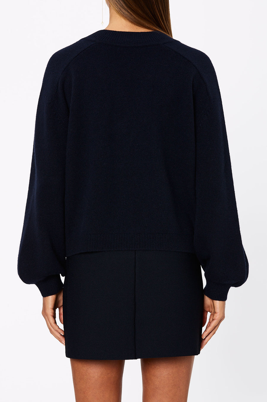Cashmere V-Nk Sweater 7 Ink - Scanlan Theodore